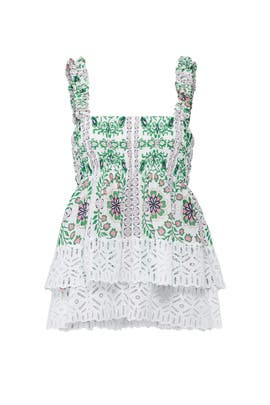Tiered Ruffle Garden Party Top by Tory Burch