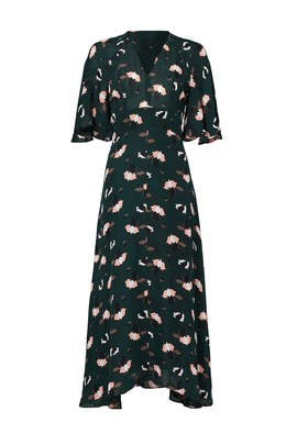Scribble Printed Midi Dress by 10 CROSBY DEREK LAM