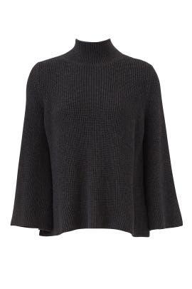 Grey Slit Sleeve Sweater by 525 America