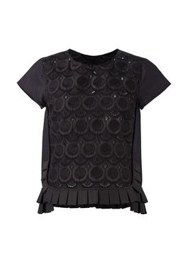 Black Pleat Ruffle Top by Capucci