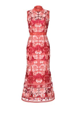 Butterfly Lace Midi Dress by Marchesa Notte