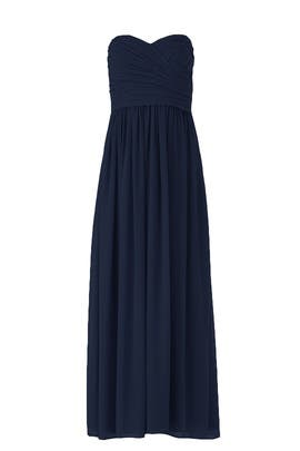 Navy Madeline Gown by Monique Lhuillier