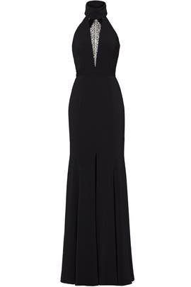 Black Lace Triangle Gown by Jay Godfrey