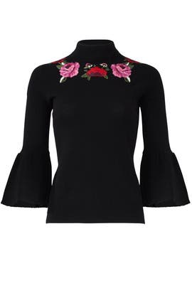 Black Blossom Sweater by kate spade new york