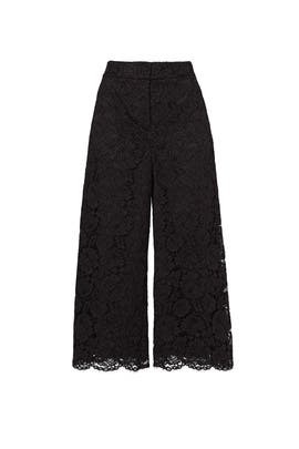 Black Lace Culottes by kate spade new york