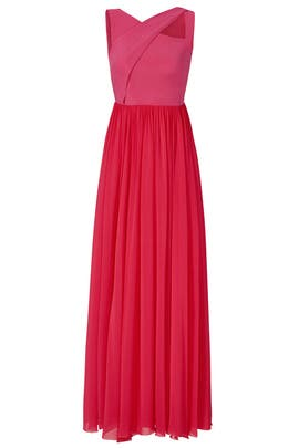 Fuchsia Cross Gown by Sachin & Babi