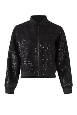 Black Sequin Bomber by Slate & Willow