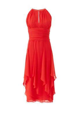 Flutter Halter Dress by Carmen Marc Valvo