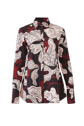 Vino Shirt Collar Blouse by Fuzzi