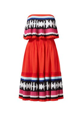 Geo Border Pleated Dress by kate spade new york