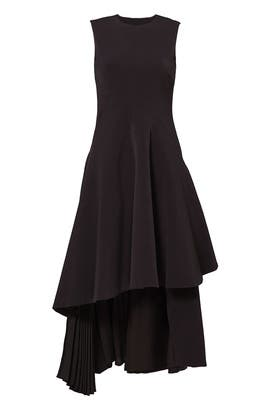 Black Cascade Bustle Dress by ADEAM