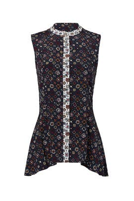Printed Peplum Shirt by Derek Lam 10 Crosby