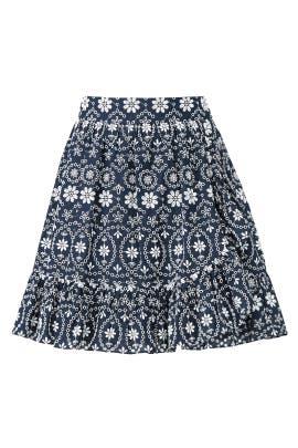 Eyelet Faux Wrap Skirt by kate spade new york