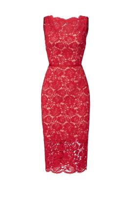 Red Anna Dress by nha khanh