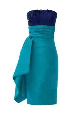 Blue Note Dress by pamella roland