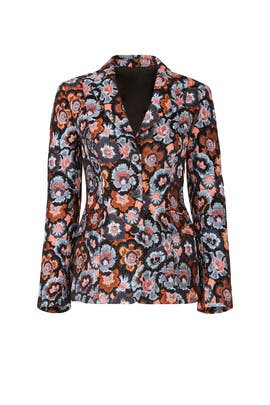 Floral Jacquard Blazer by Theory
