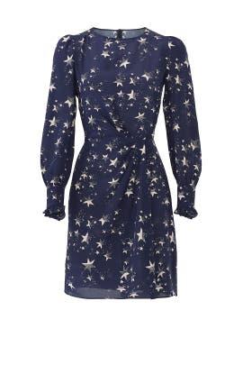 Blue Star Print Dress by Tara Jarmon