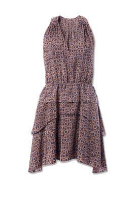 Multi Printed V-Neck Dress by 10 CROSBY DEREK LAM