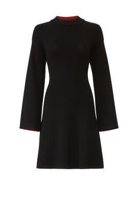 Black Flare Knit Dress by sita murt