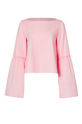 Rose Pink Poplin Top by Tibi