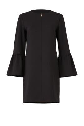 Black Structured Dress by Tibi