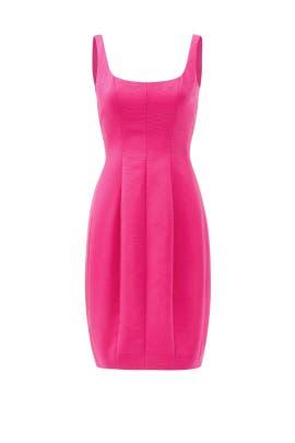 Pink Silk Bubble Dress by Carmen Marc Valvo
