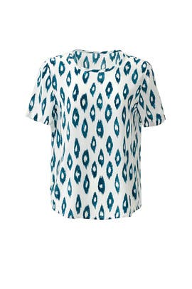 Neko Ikat Print Riley Top by Equipment