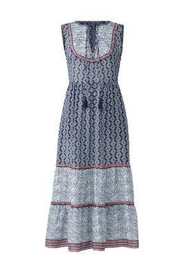 Avery Border Print Midi Dress by Greylin