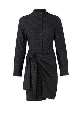 Tie Front Shirt Dress by J.O.A.