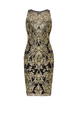Golden Fiore Sheath by Marchesa Notte
