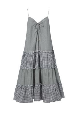 Gingham Sweetheart Midi Dress by Nicholas