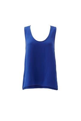 Blue Ruffle Ava Top by Waverly Grey