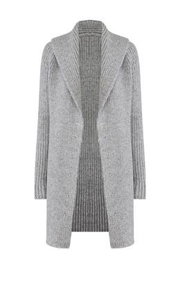 Pearl Grey Sweater Coat by KAUFMANFRANCO