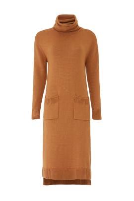 Orange Soft Knit Dress by CAARA