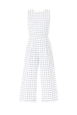 Grid Printed Jumpsuit by J.O.A.