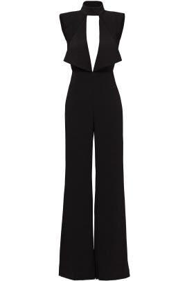 Black Open Neck Jumpsuit by Misha Collection