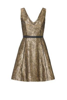 Gold Metallic Gabriela Dress by nha khanh