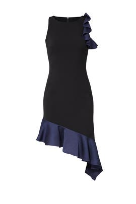 Navy Ruffled Dress by Slate & Willow