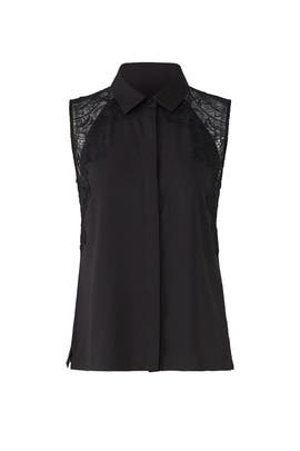 Black Vera Lace Shirt by Cooper & Ella