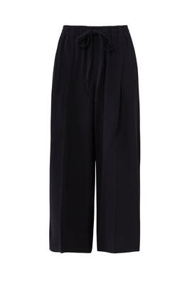 Black Drawstring Cropped Pants by VINCE.