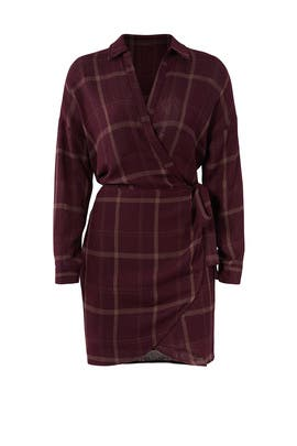 Rue Plaid Wrap Dress by ASTR