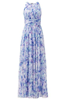 Badgley Mischka Water Lilies Maxi Dress