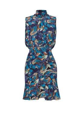 Midnight Mazarine Fleur Dress by SALONI