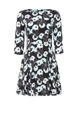 Blue Poppy Print Dress by Suno