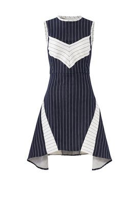 Pinstriped Joy Dress by Wai Ming