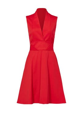 Folded Red Cocktail Dress by Carven