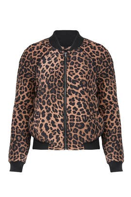 Leopard Print Bomber by Joie
