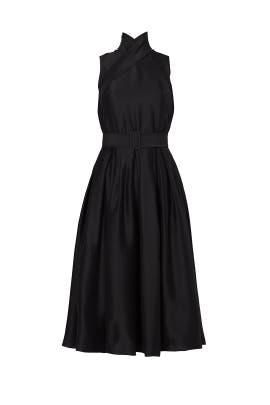 Black Double-Cross Dress by Martin Grant