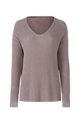 Purple V-Neck Pullover by Michael Stars
