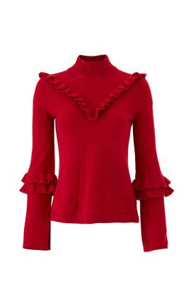 Red Shelley Sweater by Rebecca Minkoff